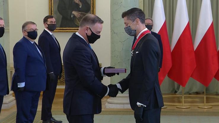 Robert Lewandowski odznaczony przez prezydenta