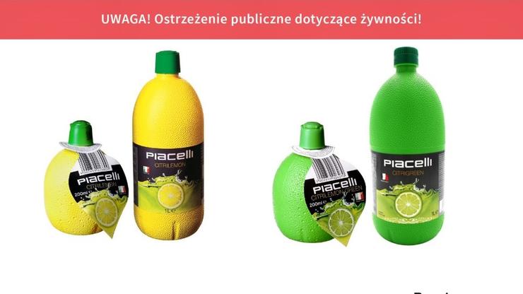 GIS ostrzega przed koncentratami soków z limonki i cytryny. Sprawdź, czy masz je w domu