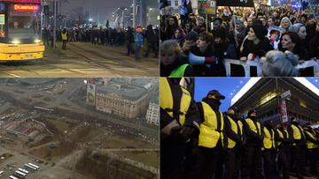 """""""Czarny piątek"""" na ulicach polskich miast. W Warszawie manifestowało około 55 tys. osób"""