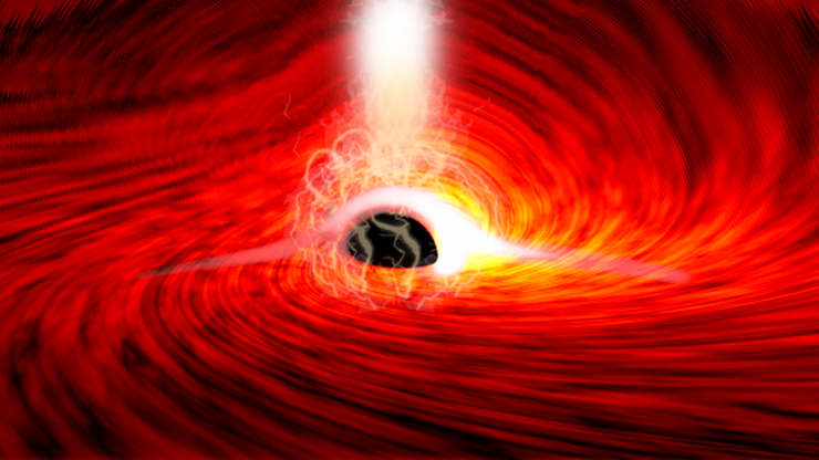 Teoria Einsteina potwierdzona? Tajemnicze rozbłyski zza czarnej dziury