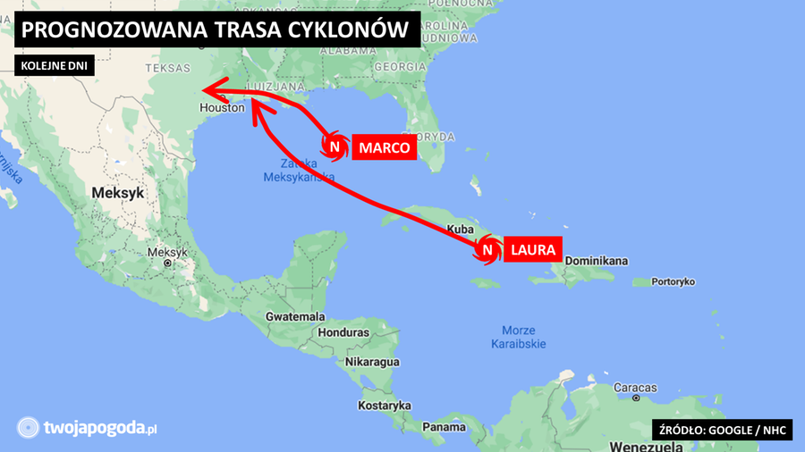 Laura nad Kubą, Marco nad Florydą